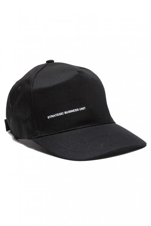 SBU 01188_19AW Clásica gorra negra de beisbol con visera 01