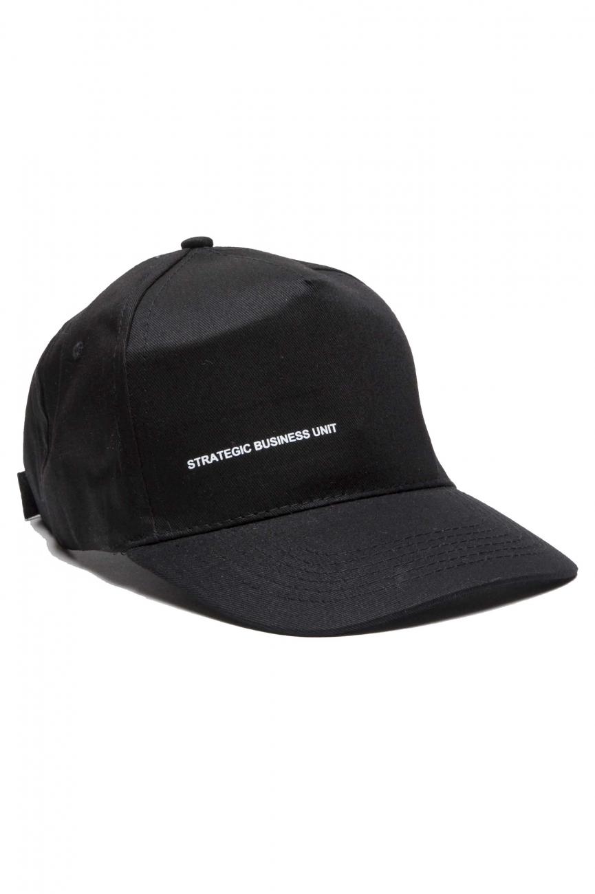 SBU 01188_19AW Baseball cap classico di cotone nero 01