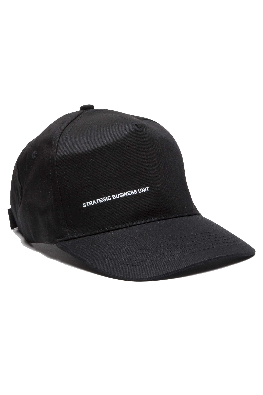 SBU 01188_19AW 古典的な綿の野球帽黒 01