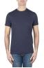 SBU 01163_19AW Shirt classique blue marine col rond manches courtes en coton 04