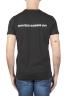 SBU 01165_19AW Shirt classique noir col rond manches courtes en coton 01