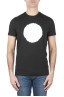 SBU 01166_19AW 白と黒のプリントされたグラフィックの古典的な半袖綿ラウンドネックtシャツ 01