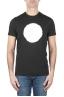 SBU 01166_19AW Shirt classique blanche et noir col rond manches courtes en coton graphique imprimé 01
