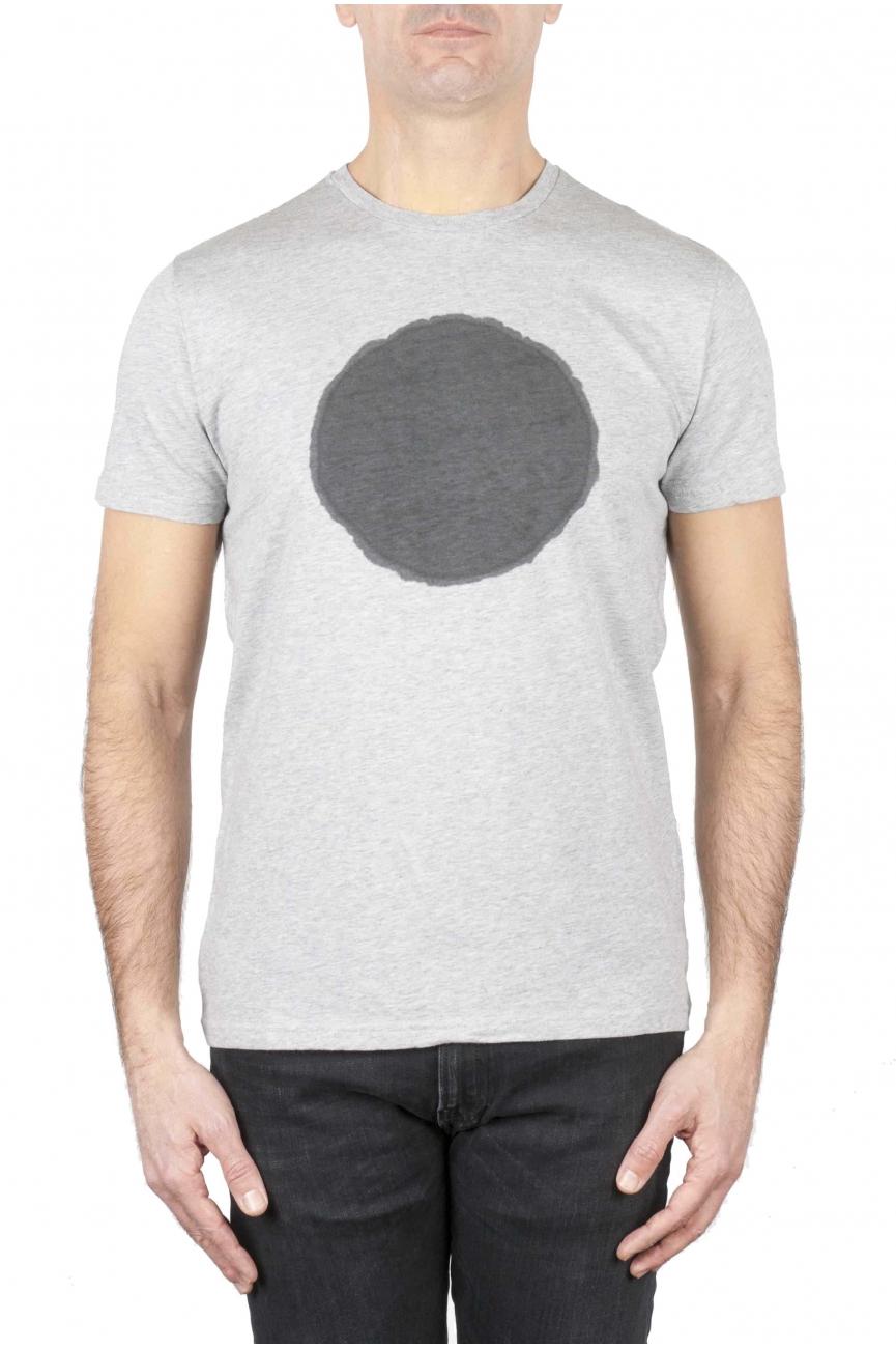 SBU 01169_19AW 古典的な半袖綿ラウンドネックtシャツ黒とグレーのグラフィックを印刷 01