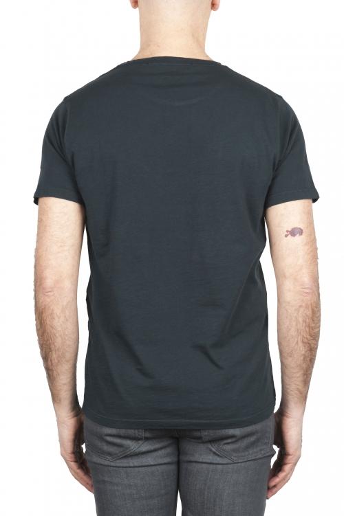 SBU 01636_19AW Camiseta de algodón con cuello redondo en color antracita. 01