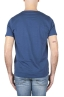 SBU 01638_19AW T-shirt à col rond en coton flammé bleu 05