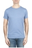 SBU 01642_19AW T-shirt à col rond en coton flammé bleu clair 01