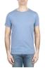 SBU 01642_19AW T-shirt girocollo aperto in cotone fiammato celeste 01