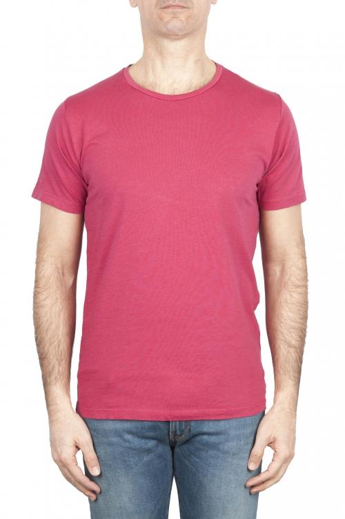 SBU 01643_19AW T-shirt à col rond en coton flammé rouge 01