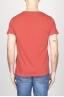 古典的な短い袖のコットンスクープネックTシャツ