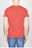 SBU - Strategic Business Unit - Classic Short Sleeve Flamed Cotton Scoop Neck T-Shirt Red