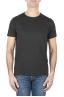 SBU 01644_19AW Camiseta de algodón con cuello redondo en color negro 01