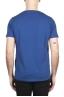 SBU 01649_19AW T-shirt à col rond en coton flammé bleu 05