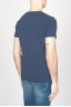 Classic Short Sleeve Flamed Cotton Scoop Neck T-Shirt Night Blue