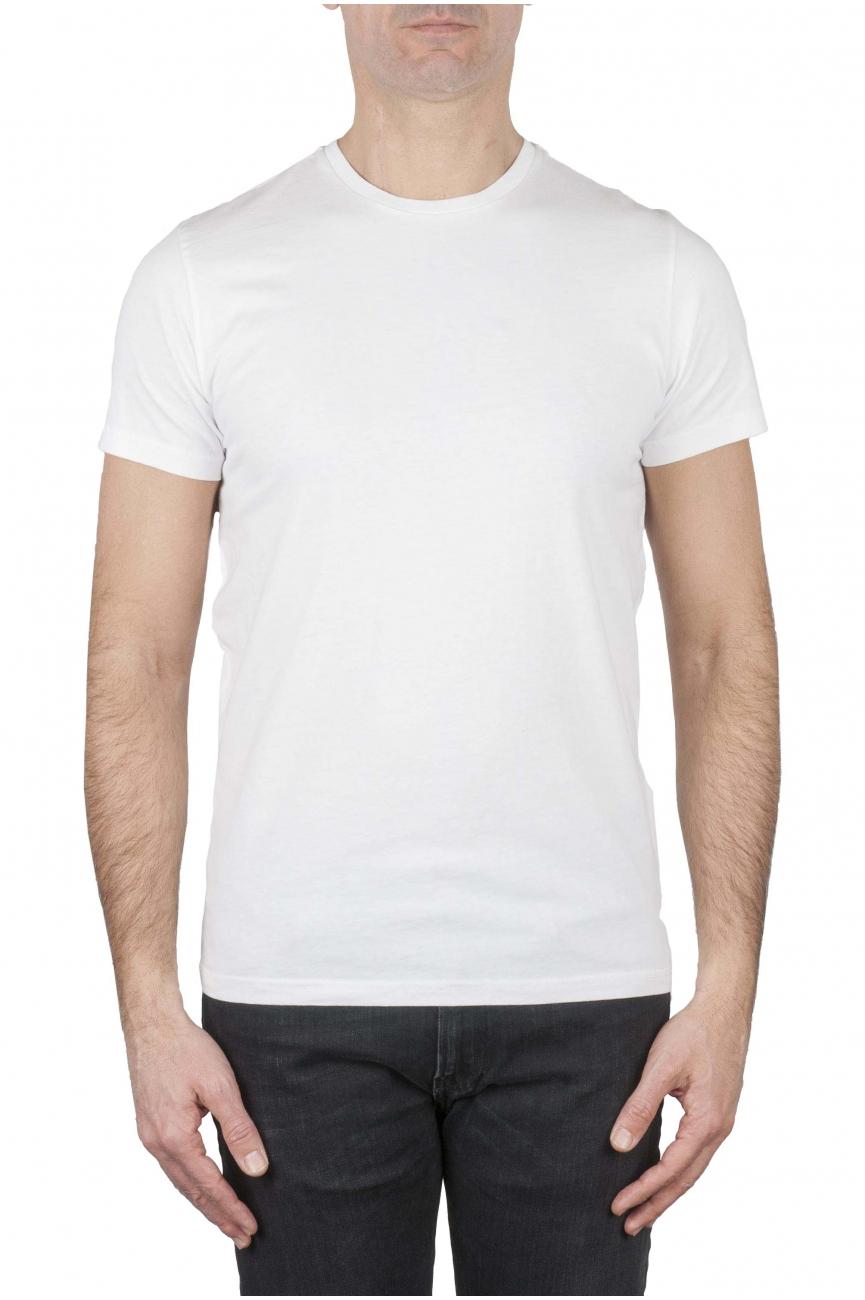 SBU 01749_19AW Clásica camiseta de cuello redondo blanca manga corta de algodón 01
