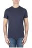 SBU 01750_19AW 古典的な半袖コットンラウンドネックTシャツネイビーブルー 01