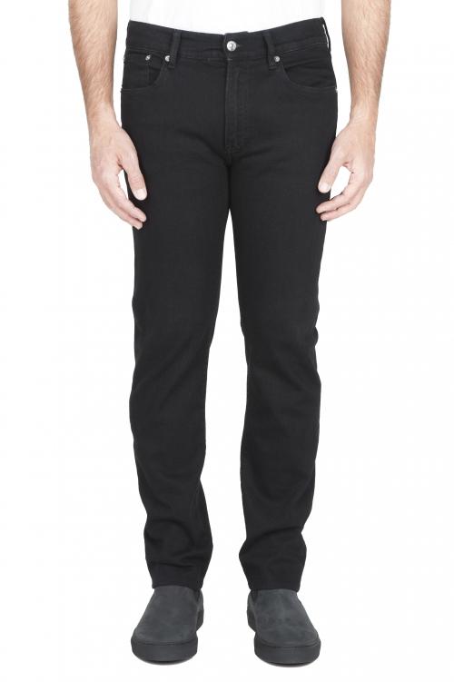 SBU 01587_19AW Jeans nero elasticizzato tinto con inchiostro vegetale 01