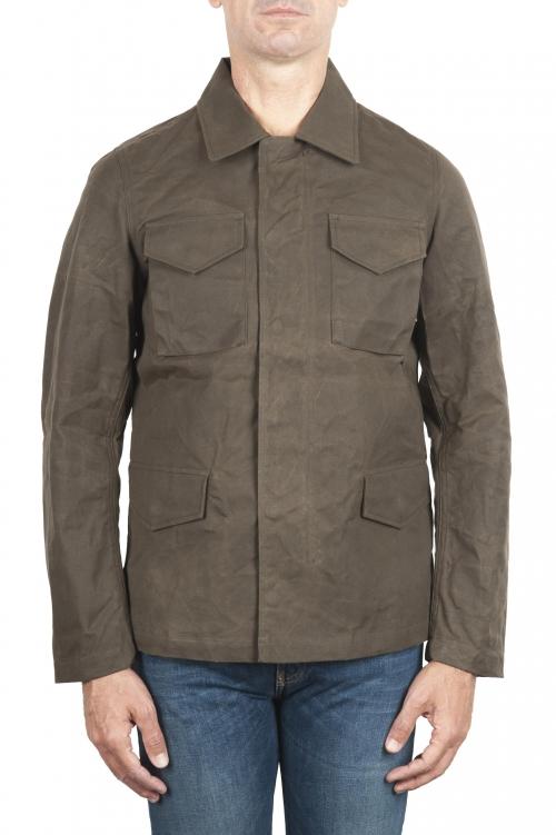 SBU 01561_19AW 風と防水のハンタージャケット、黒色の綿花 01