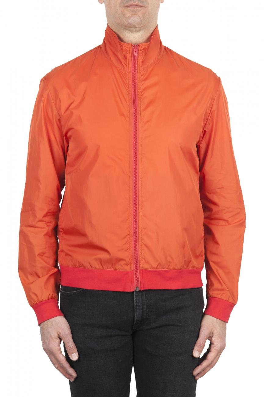 SBU 01687_19AW Windbreaker bomber jacket in orange ultra-lightweight nylon 01
