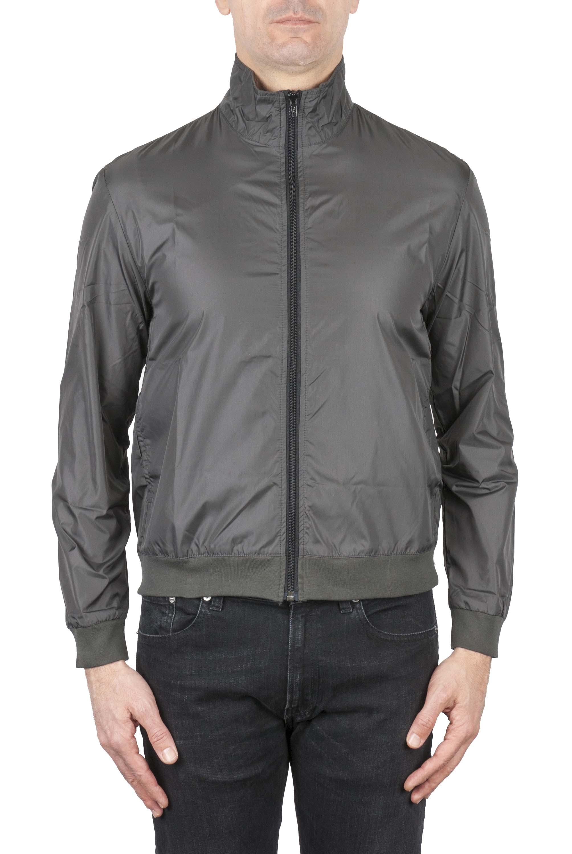 SBU 01564_19AW Windbreaker bomber jacket in grey ultra-lightweight nylon 01