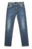 SBU 01452_19AW Teint pur indigo délavé à la pierre coton stretch jeans bleu 06