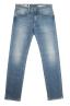 SBU 01450_19AW Teint pur indigo délavé coton stretch bleu jeans  06