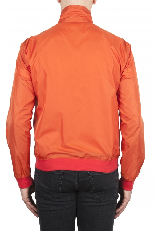 SBU 01687_19AW Giubbino antivento in nylon arancione ultra leggero 01