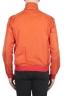 SBU 01687_19AW Windbreaker bomber jacket in orange ultra-lightweight nylon 05