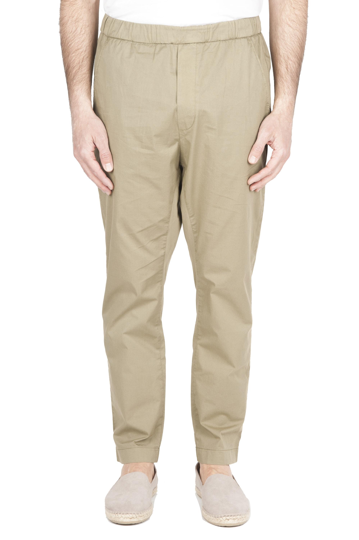 SBU 01783_2020SS Pantaloni jolly ultra leggeri in cotone elasticizzato verdi 01