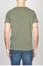 SBU - Strategic Business Unit - Classic Short Sleeve Flamed Cotton Scoop Neck T-Shirt Light Green