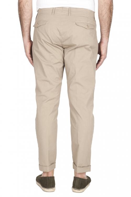 SBU 01953_2020SS Pantaloni classico in cotone con pinces e risvolto beige 01