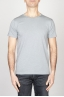 SBU - Strategic Business Unit - Classic Short Sleeve Flamed Cotton Scoop Neck T-Shirt Light Grey