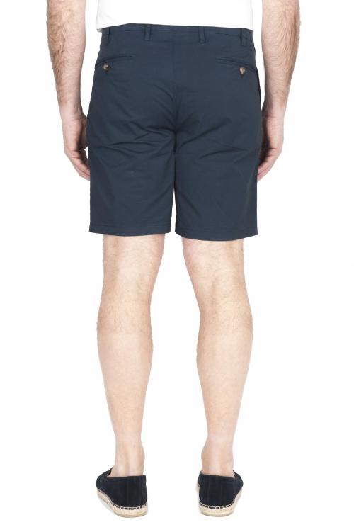 SBU 01955_2020SS Ultra-light chino short pants in navy blue stretch cotton 01