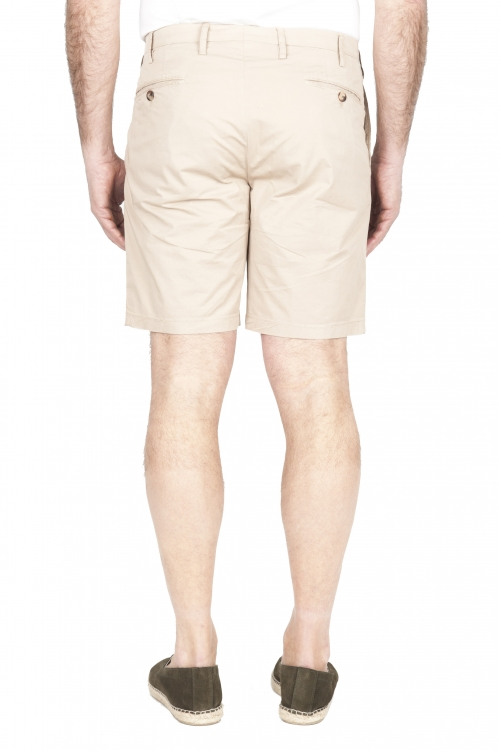 SBU 01956_2020SS Ultra-light chino short pants in beige stretch cotton 01