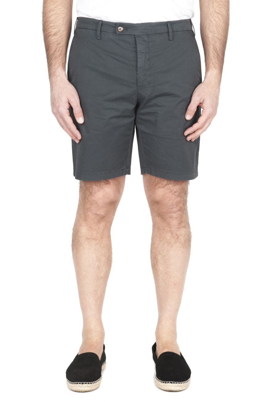 SBU 01957_2020SS Ultra-light chino short pants in grey stretch cotton 01