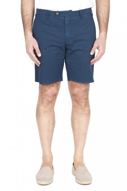SBU 01958_2020SS Pantalon court chino ultra léger en coton stretch bleu 01