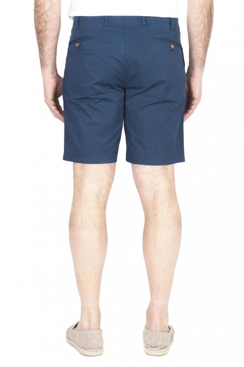 SBU 01958_2020SS Ultra-light chino short pants in blue stretch cotton 01