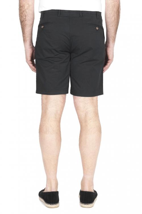 SBU 01959_2020SS Ultra-light chino short pants in black stretch cotton 01