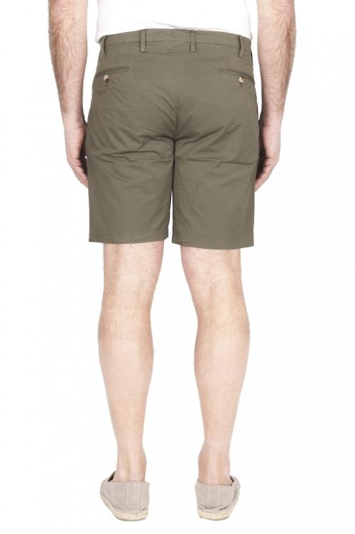 SBU 01960_2020SS Pantalon court chino ultra léger en coton stretch vert 01