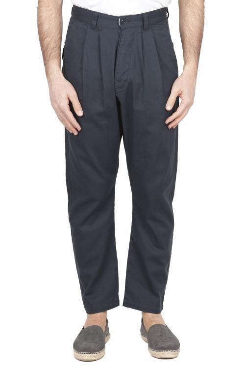 SBU 01673_2020SS Pantaloni da lavoro giapponesi con due pinces in cotone grigio 01