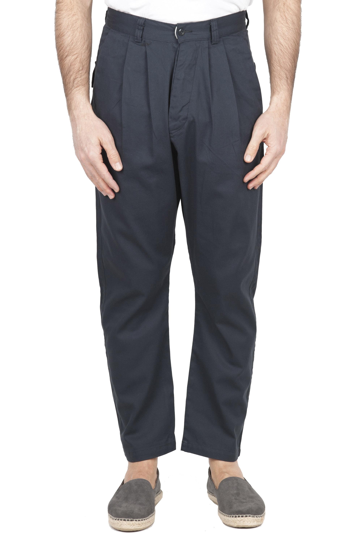SBU 01673_2020SS Pantalón japonés de dos pinzas en algodón gris 01