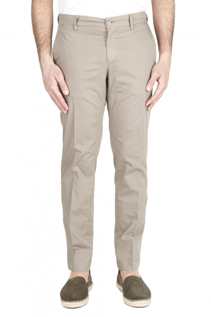 SBU 01962_2020SS Pantalon chino classique en coton stretch sable 01