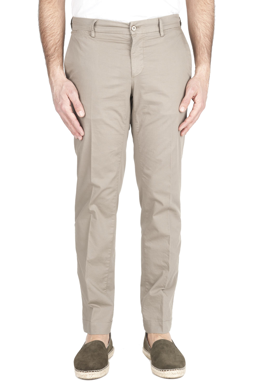 SBU 01962_2020SS Pantalón chino clásico en algodón elástico en arena 01