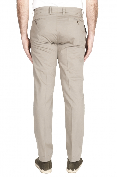 SBU 01962_2020SS Classic chino pants in sand stretch cotton 01
