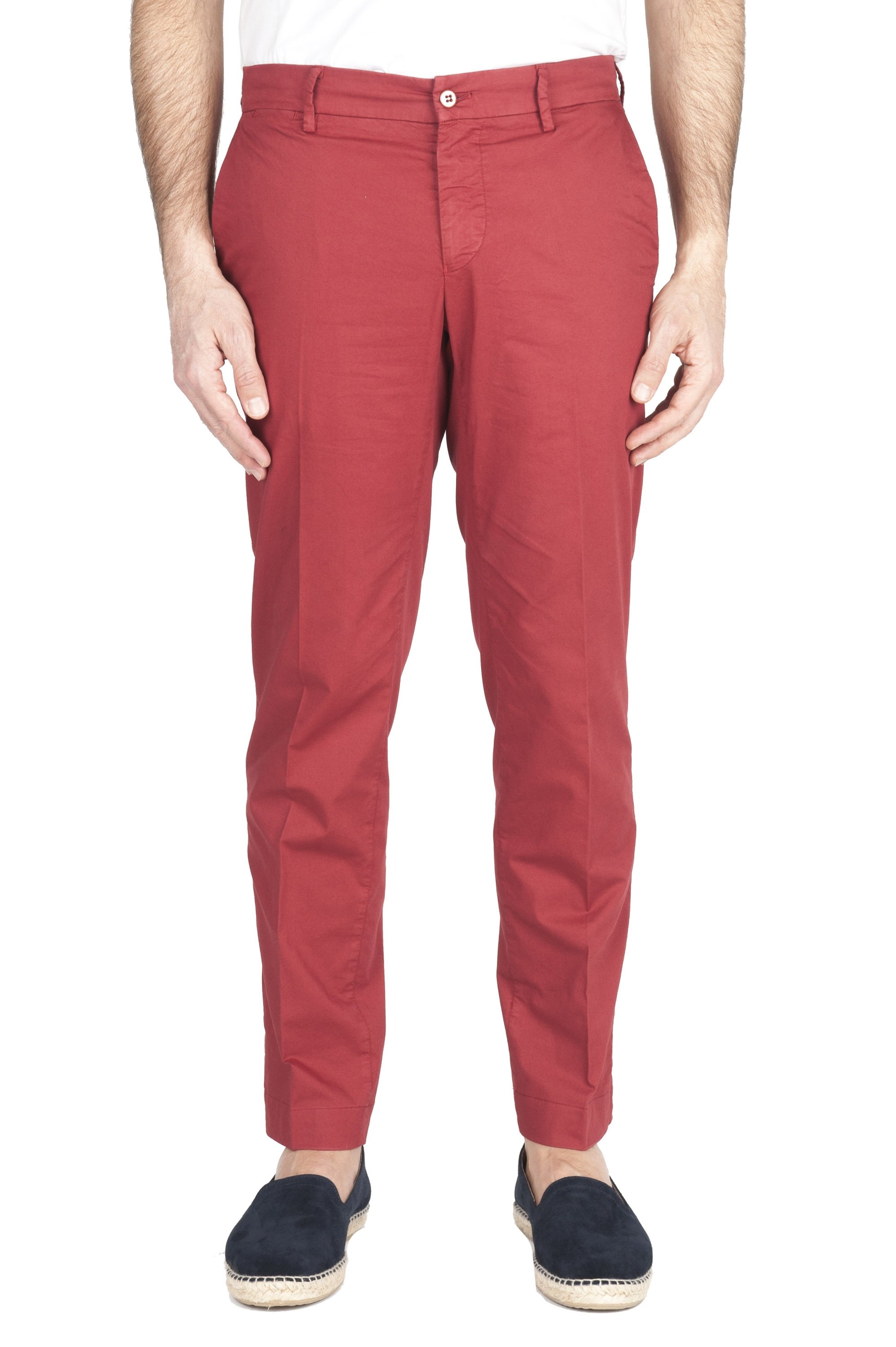 SBU 01963_2020SS Classic chino pants in red stretch cotton 01
