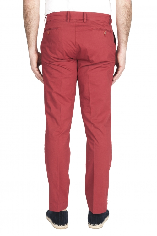 SBU 01963_2020SS Pantaloni chino classici in cotone elasticizzato rosso 01