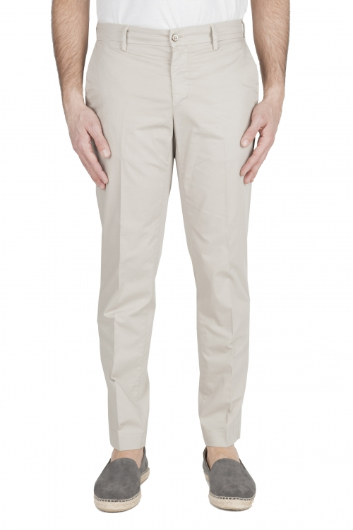 SBU 01964_2020SS Classic chino pants in beige stretch cotton 01