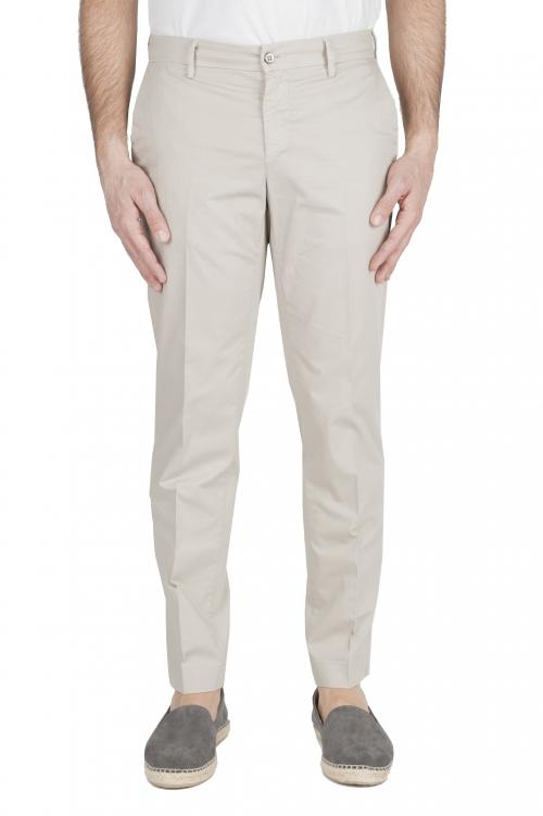 SBU 01964_2020SS Pantaloni chino classici in cotone elasticizzato beige 01