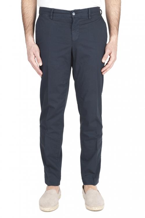SBU 01965_2020SS Pantalon chino classique en coton stretch bleu marine 01