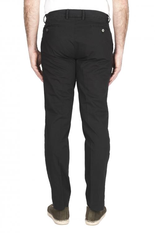 SBU 01967_2020SS Pantalon chino classique en coton stretch noir 01